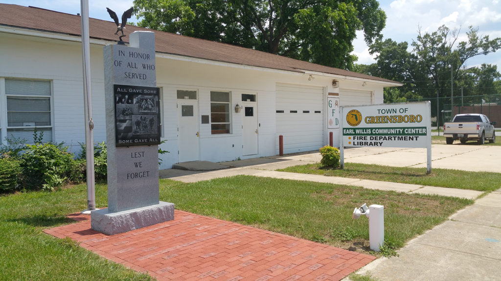 Library<br>Fire Station<br>Veterans Memorial